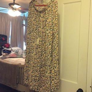 Floor length maxi skirt